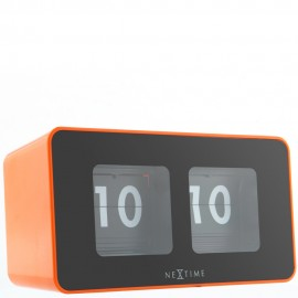 Flipped Orange Table Clock 17.5cm