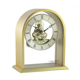 Arch Top Skeleton Mantel Clock 14cm