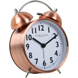 Copper Finish Twin Bell Alarm 15cm