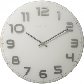 Classy White Round Wall Clock 30cm or 50cm