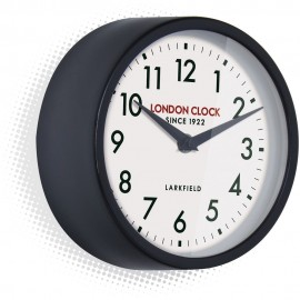 Horwich Black Wall Clock 18cm