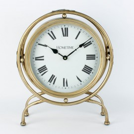 Mantel Clock Gold Round Case 36cm