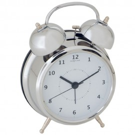 Wake Up White Alarm Clock 21.5cm