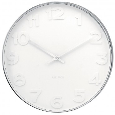 Mr White Numbers Wall Clock 51cm