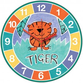 Perkins & Morely Jungle Friends Tiger Wall Clock 28.5cm
