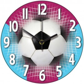 Claret And Blue Football Wall Clock 28.5cm