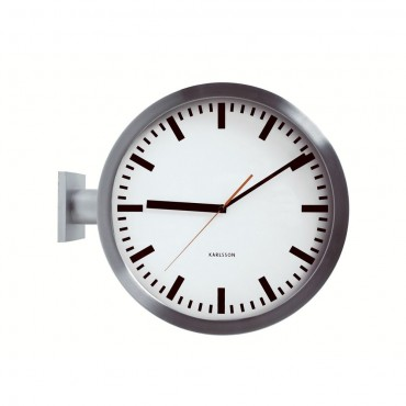 Double Sided Wall Clock 38cm