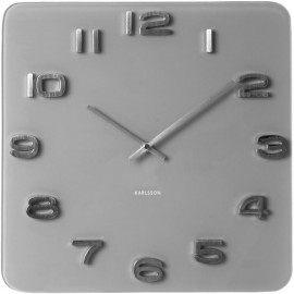 Grey Vintage Glass Wall Clock 35cm