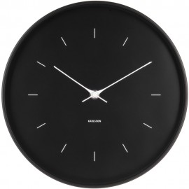 Butterfly Black Wall Clock 27.5cm