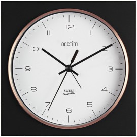 Lunz Black & Rose Gold Mantel Clock 16.5cm