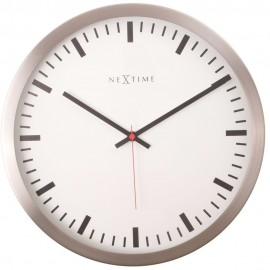 Stripe Metal Wall Clock 26cm
