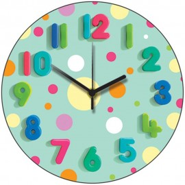 Spotty Mint Wall Clock 28.5cm