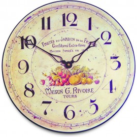 French Fruits Wall Clock 36cm