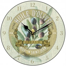 Huile D'Olive Wall Clock 28.5cm