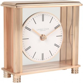 Square Rose Gold Mantel Clock 14cm
