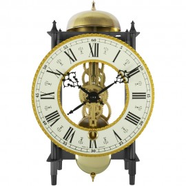 Alcester 8-Day Key Wound Skeleton Mantel Clock 22.5cm