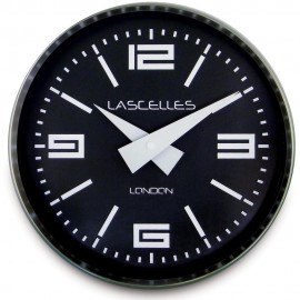 Brushed Chrome Cosmo Wall Clock 23cm