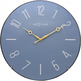 Trendy Dome Blue Wall Clock 35cm