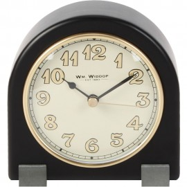 Arched Mantel Clock Metal Feet Black Arabic Dial 12.5cm
