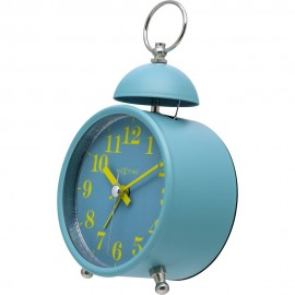 Single Bell Turquoise Alarm Clock 16cm