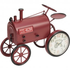 Mantel Clock Red Tractor 29cm