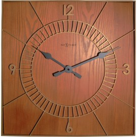 Square Wooden Wall Clock 50cm