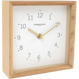 Rodig White Mantel Clock 17cm