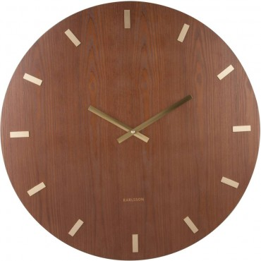 XL Dark Wood Wall Clock 70cm