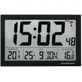 TFA Xl Radio Controlled Wall Clock With Indoor/Outdoor Temperature 37cm