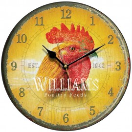 Williams Poultry Feed Cockerel Wall Clock 28.5cm