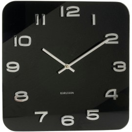 Vintage Square Black Wall Clock 35cm