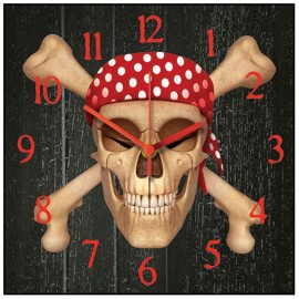 Jolly Roger Wall Clock 30.5cm