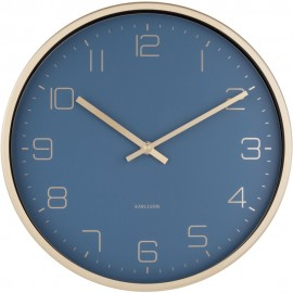 Elegance Blue Wall Clock 30cm