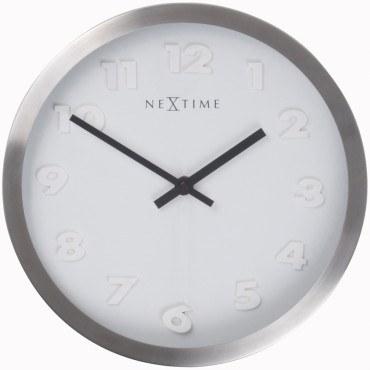 Paniki White & Silver Wall Clock 34cm
