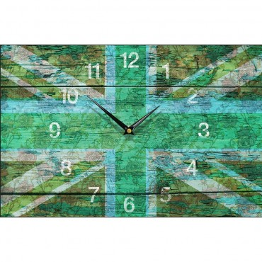 Shabby Chic Green Union Jack Wall Clock 35.5cm