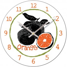Perkins & Morely Tooty Frooty Oranges Wall Clock 28.5cm