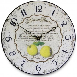 Apple Tart Recipe Wall Clock 36cm