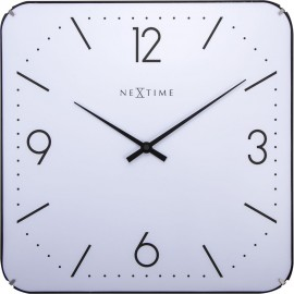 Basic Square Dome Wall Clock 35cm