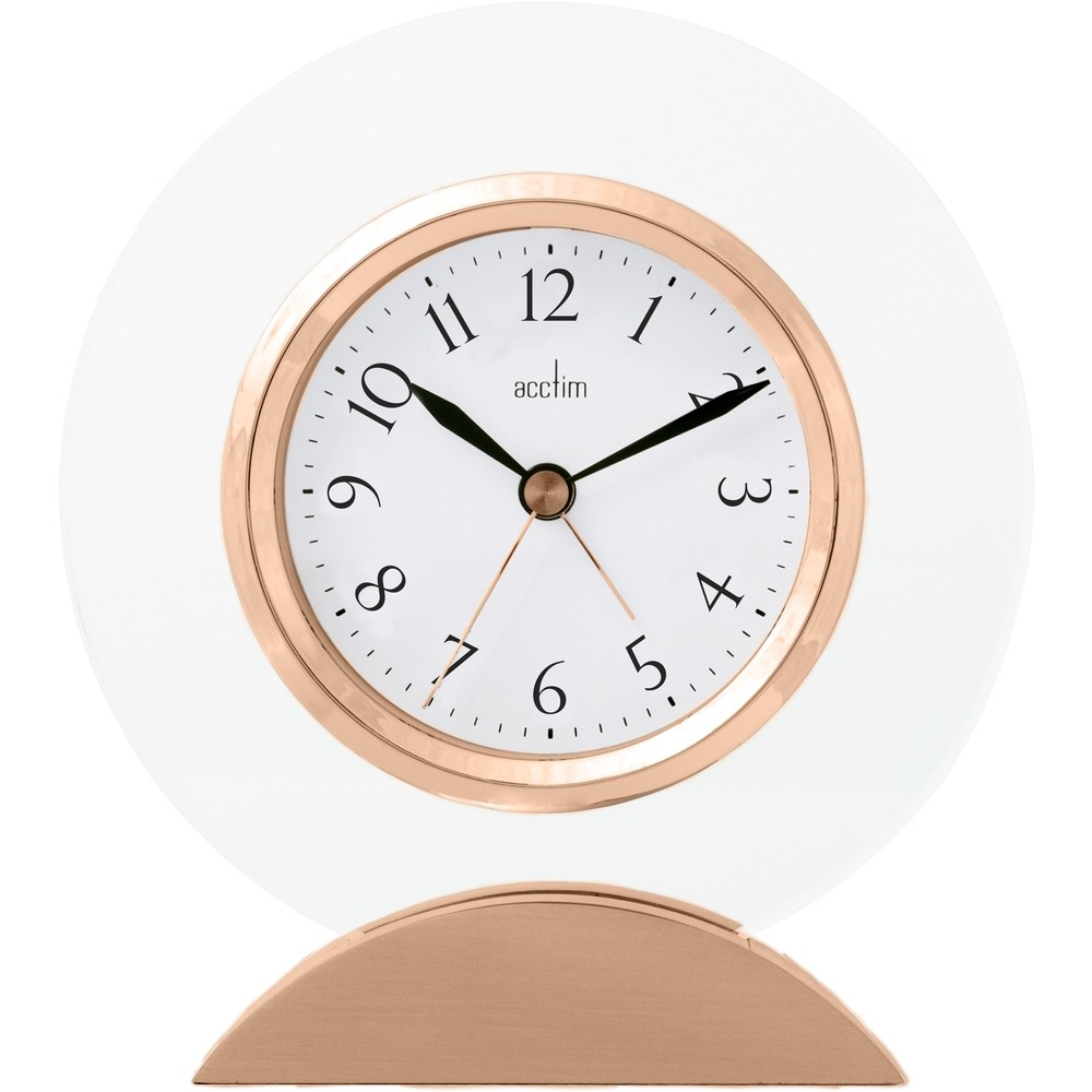 Tarano Rose Gold Mantel Clock 12cm