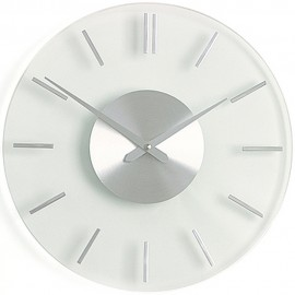 Stripe Glass Wall Clock 26cm or 31cm