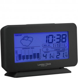 Black Weather Forecaster Alarm Clock 10cm