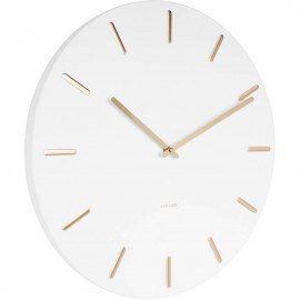Charm White Wall Clock 45cm