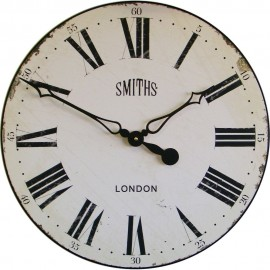 Smiths Antique White Wall Clock 50cm