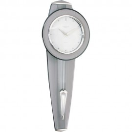 Retro Silver Finish Pendulum Clock 57cm