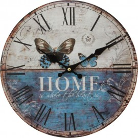 Round Wall Clock 30cm Butterfly Forest Gate