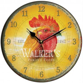 Walker's Poultry Feed Cockerel Wall Clock 28.5cm