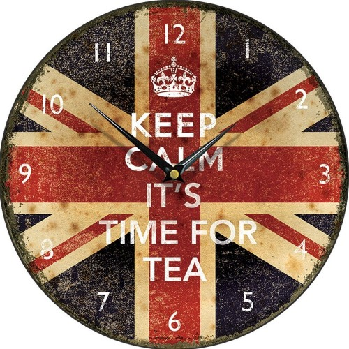 Keep Calm Its Time For Tea Wall Clock 28.5cm