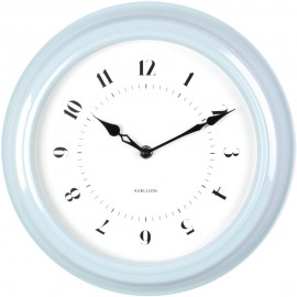 Fifties Blue Wall Clock 30cm