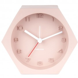Hexagon Pink Concrete Alarm Clock 11.5cm