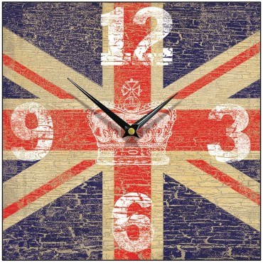 Vintage Crown Union Jack Wall Clock 28.5cm
